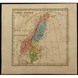 1826 - Carte de Suède et...