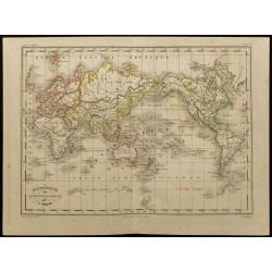 1855ca - Mappemonde