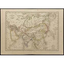 1855ca - Carte de l'Asie