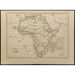 1855ca - Carte de l'Afrique
