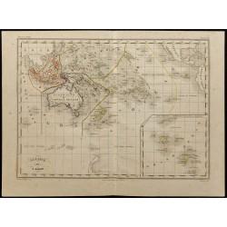 1855ca - Carte de l'Océanie