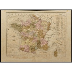 1855ca - Carte de France