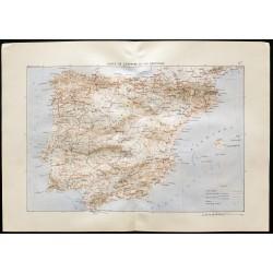1880 - Carte de l'Espagne...