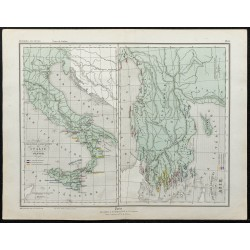 1857 - Carte des colonies...