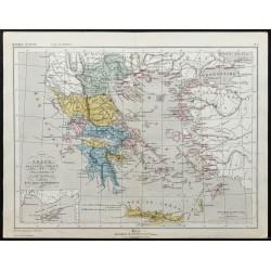 1857 - Carte de la Grèce...