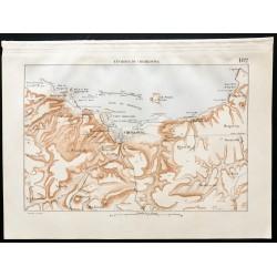 1880 - Carte des forts de...