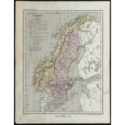 1857 - Carte de Suède &...