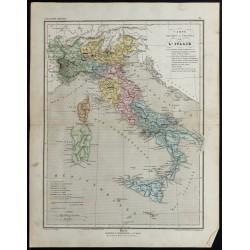 1857 - Carte de l'Italie
