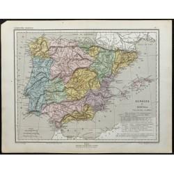 1857 - Carte de l'Espagne &...