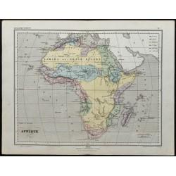 1857 - Carte de l'Afrique