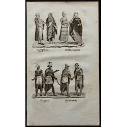 1826 - Costumes d'Afrique