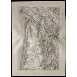 1880 - Carte de la Gironde