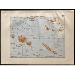 1880 - Carte des colonies...