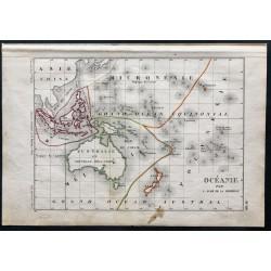 1850 - Carte de l'Océanie