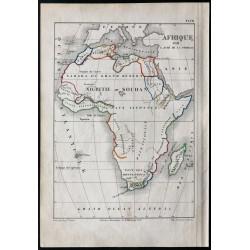 1850 - Carte d'Afrique