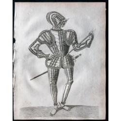 1791 -  Homme en armure