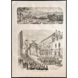 1860 - Dijon - Vue et...
