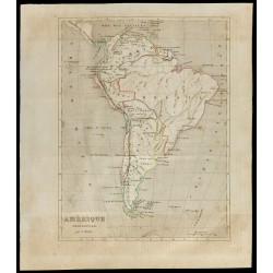 1843 - Carte de l'Amérique...
