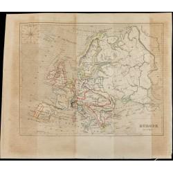 1843 - Carte de l'Europe