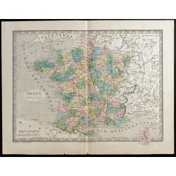 1845 - Carte de la France