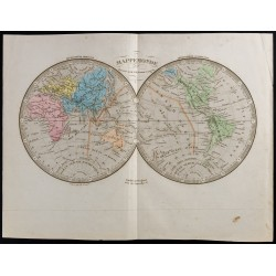 1845 - Mappemonde