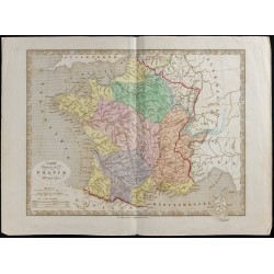 1845 - Carte phyique de la...