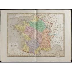 1845 - Carte phyique de la...