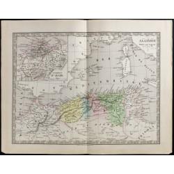 1845 - Carte de l'Algérie...