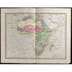 1845 - Carte de l'Afrique