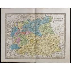 1845 - Carte de l'Allemagne...
