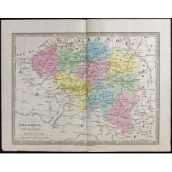 1845 - Carte de la Belgique
