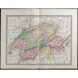 1845 - Carte de la Suisse
