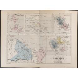 1855 - Carte des Colonies...