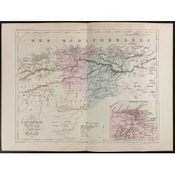1855 - Carte de l'Algérie