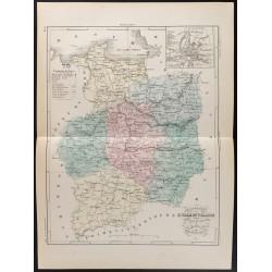 1855 - Carte du département...