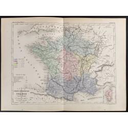 1855 - Carte de France des...
