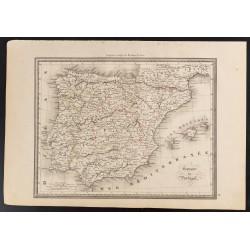1840 - Carte d'Espagne et...
