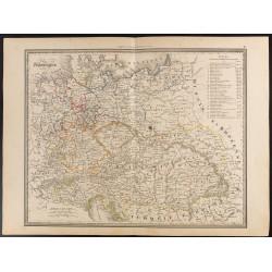 1840 - Carte d'Allemagne