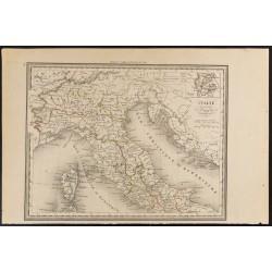 1840 - Carte de l'Italie...