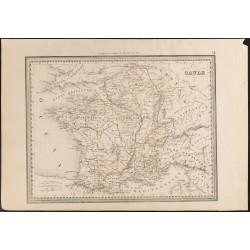 1840 - Carte de la Gaule
