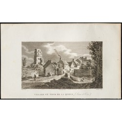 1829 - Village et tour de...