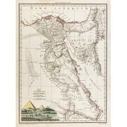 1812 - Carte de l'Égypte