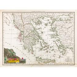 1812 - Carte de la Grèce