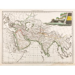 1812 - Carte de l'Asie...