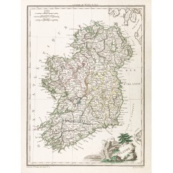 1812 - Carte de l'Irlande