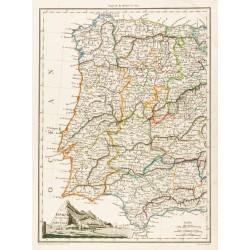1812 - Carte de l'Espagne...