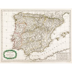 1809 - Carte de l'Espagne...