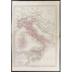 1872 - Carte de l'Italie