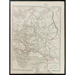 1872 - Carte de l'Europe de...