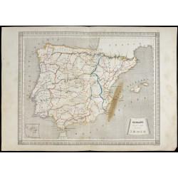 1840/50 - Carte de l'Espagne